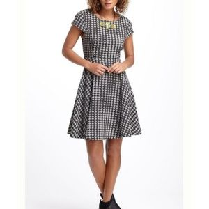 Anthropologie Maeve Fit and Flare Checked Dress